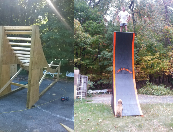 Backyard Ninja Warrior Plans : My warped wall is finished and Im very happy   Larry Phillips