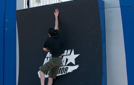 Warped Wall Competitors Have To Master Both Technique And Power In Order Scale This Fourteen Foot Monster
